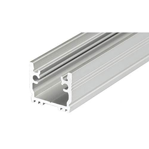 LED ALU Aluminium Profil Leiste Schiene FLOOR-T-12-2m, eloxiert LK#522210