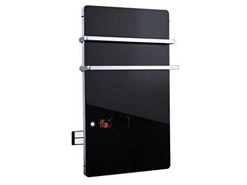 PURLINE ZAFIR V2000T B Toallero Calefactor eléctrico Digital de Cristal Templado Negro con termostato