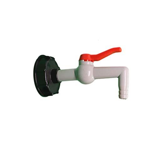 IBC Adaptador de drenaje para depósito de agua, 90 grados, IBC, adaptador de depósito de 60 mm, rosca gruesa IBC, grifo de bola, grifo de salida, calidad alimentaria