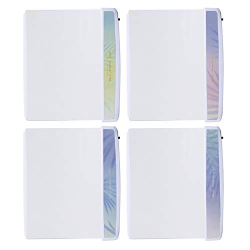 SH-RuiDu Luz de libro LED plana 4 piezas ojos proteger Paperback noche lámpara de lectura para leer en la cama por la noche