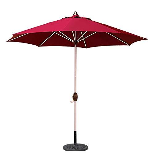 CHHD Garden Parasolss 9 'Parasol de Table de Jardin Portable avec 8 Nervures Robustes, Parfait pour la Plage extérieure, Le marché des événements commerciaux, Le Camping, Le Bord de la Piscine (coul