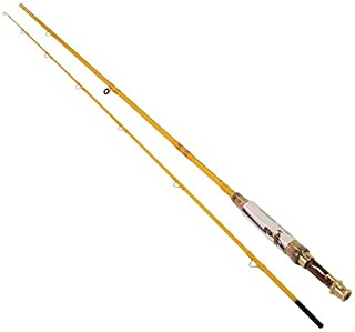 Eagle Claw Featherlight 5/6 Line Weight Fly Rod, 2 Piece (Yellow, 7-Feet)