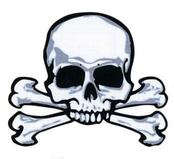 Horror-Shop Pirate Tattoo Skull & Bones