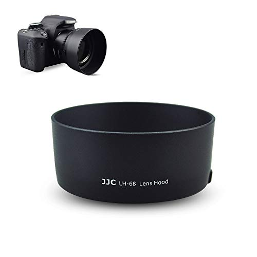 JJC Camera Lens Hood Shade Fits for Canon EF 75-300mm f/4-5.6 III USM & Canon EF-S 55-250mm f/4-5.6 is II Lens Replaces Canon ET-60 Hood Reverse Attaching -Black