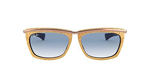 Ray-Ban Gafas de sol RB2419 OLYMPIAN II 13063F Gafas de sol unisex color Marrón azul tamaño de lente 56 mm