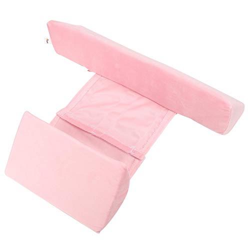 Almohada Posicionador de sueño lateral para bebés, Almohada de cuña para dormir del lado del bebé Estilo Almohada antivuelco Leche anti escupir (Azul, Blanco, Rosa)(Rosa)