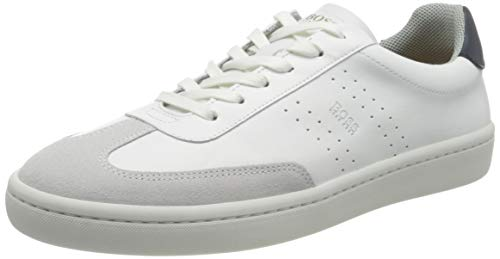 BOSS Herren Ribeira_tenn_ltwt Sneaker, White100, 41 EU