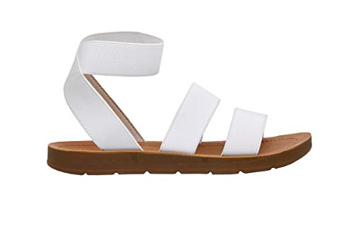 Women's Cushionaire Indego Stretch Sandal, White 8