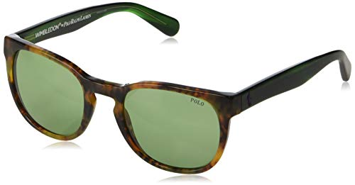 Polo 0PH4099 Gafas de sol, Wrap, 52, Shiny Jerry Tortoise
