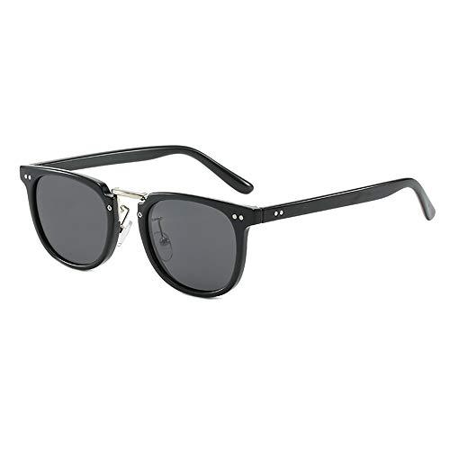 GEMSeven Männer Frauen Quadrat Nieten Myopie Sonnenbrille Kurzsichtige Brille Graue Linse Dioptrien