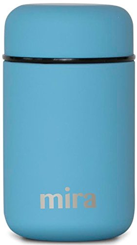 MIRA Lunch, Food Jar - Vacuum Insulated Stainless Steel Lunch Thermos - 13.5 oz - Sky