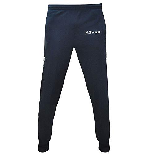 Pantalone Enea Zeus Nero Calcio Uomo Donna Jogging Calcetto Muta Torneo Scuola Sport (BLU, M)