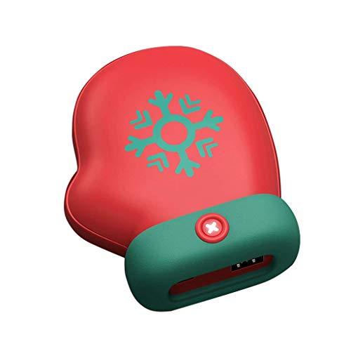 Wiederaufladbarer Handwärmer, USB-Energiebank für alle Smartphones Elektrischer Handwärmer doppelseitig Wiederverwendbare Taschenheizung (Farbe : Glove Shape)