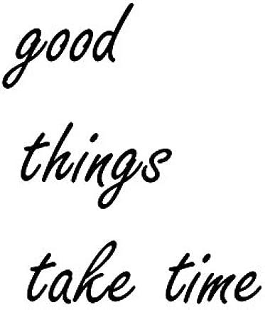 "Heartfelt Inspirations By Moana SS-HI-10019""Good Things Take Time"" Paper Wall Prints"