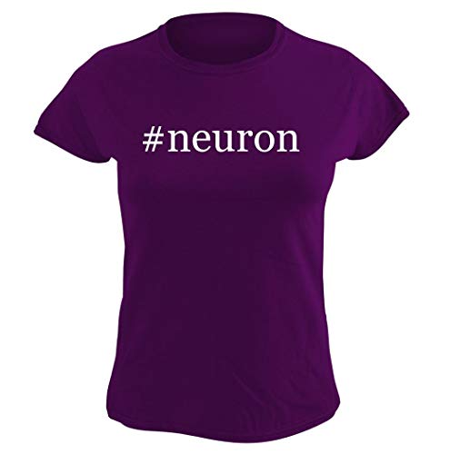 Harding Industries #Neuron – playera para mujer Hashtag Graphic, Púrpura, S