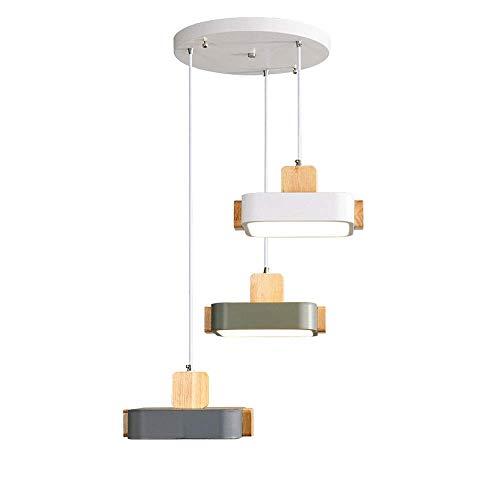 WEM Novedad Candelabro decorativo, candelabro led nórdico, accesorio de iluminación colgante de metal, lámpara de techo moderna, luces colgantes de 36 W, accesorios de iluminación de suspensión para