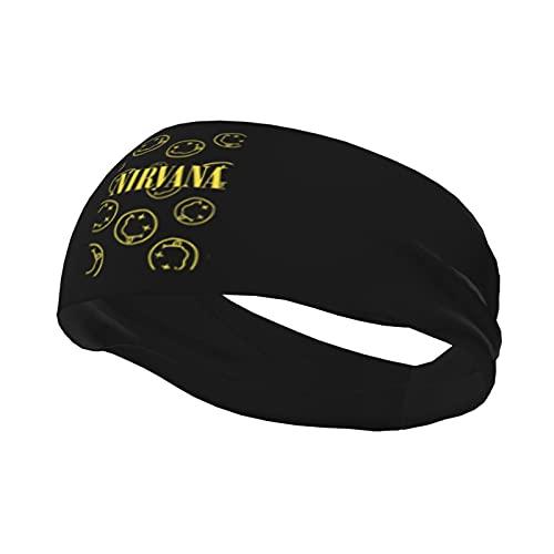 Nirvana - Diadema deportiva higroscópica para hombres y mujeres