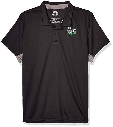 OTS NBA Boston Celtics Men's Poly Dot Polo, Hooper, Small