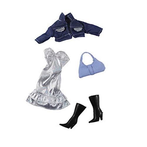 Hdsght Ropa de muñeca para muñecas de 11.5 pulgadas, accesorios de disfraz, trajes de moda, decoración de juguetes, traje de cuatro piezas (#A)