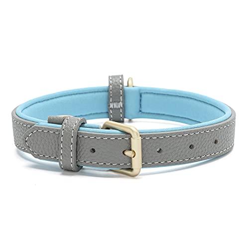 Tanpie Klassisches Echtleder-Hundehalsband, weich, atmungsaktiv, wasserdicht, Halsbänder für große, mittelgroße und kleine Hunde