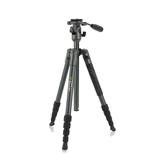 Vanguard VEO 2 235AP Aluminum Travel Tripod with VEO 2 PH-25 Pan Head for Sony, Nikon, Canon, Fujifilm Mirrorless, Compact System Camera (CSC), Spotting Scope