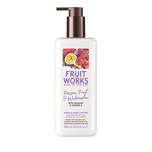 Fruit Works Passionfruit & Watermelon Cruelty Free & Vegan Hand & Body Lotion With Natural Extracts 1x 500ml