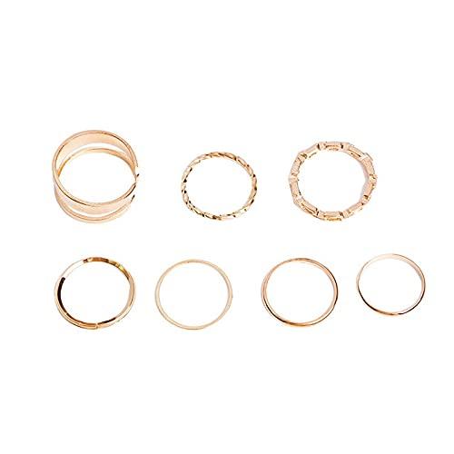 Juego de 25 anillos para nudillos de oro vintage, estilo bohemio, retro, azul, con diamantes de imitación, Cristal Metal Aleación, desconocido,
