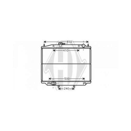 Diederichs DCM1853 Radiador refrigeración