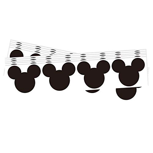 Wootile 2.25 x 2 Inch Mickey Mouse Vinyl Chalkboard Labels 60 Stickers Per Pack
