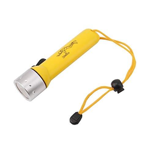 ZRDY 2000lm Q5 LED wasserdichte Taucher Tauchen Taschenlampe Unterwasser-Flash-Licht-Fackel Handheld (Emitting Color : Yellow)