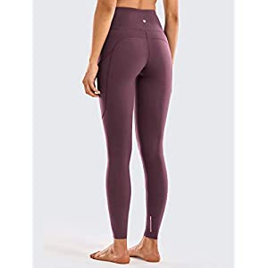 CRZ YOGA Women's Breathable Luxury Naked Feeling High Waisted Yoga Pants with Pockets Athletic Leggings-28 inches
