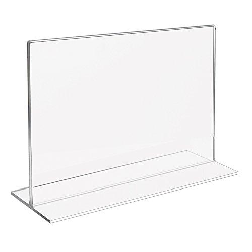 HMF 46925 Acryl Tischaufsteller gerade | DIN A4 Querformat | Glasklar