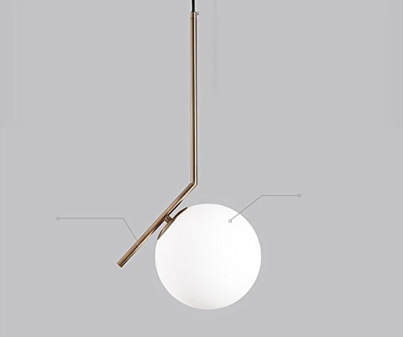 WUTONG Nordischen Stil führte Bar Esszimmer Kronleuchter Postmodern minimalistischen Schlafzimmer Kopfteil Esszimmer Single Head Glas Lampe