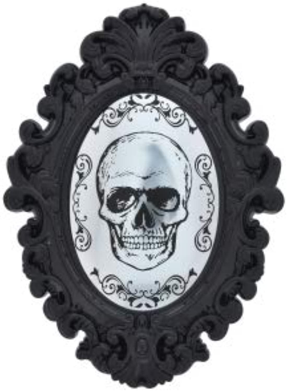 PROSPERITY DEVINE Plastic Horror Skull Wall Mirrors, Black