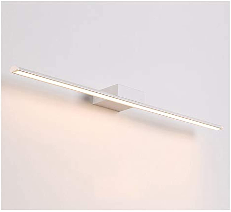 WB_L Spiegellampen Moderne geführte Spiegel-Scheinwerfer, Badezimmer-Spiegel-Kabinett beleuchtet wasserdichte Anti-Fog-Lampen nordische Badezimmer-Spiegel-Lichter (Farbe   Warmes licht-41cm)
