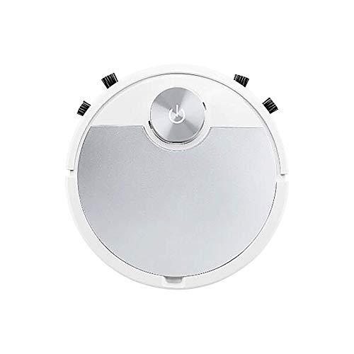 Gpure Robot Aspirador y Fregasuelos Mapeo App Control 90 Uso Minutos Vacuum Litio 3000 mAh Automática Sensores Blanca Recargable Aspiradora para Pisos,Baldosas, Mascotas,Limpieza del Hogar