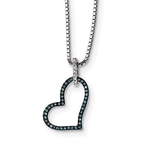 Coeur Claddagh Pendentif Clair Simulé Zircone cubique Argent Sterling .925 charme
