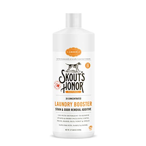 SKOUT'S HONOR: Professional Strength Laundry Booster - Stain and Odor Removal Additive - 3X Concentrated Solution for Laundry Use