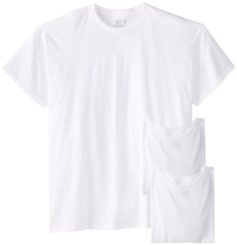 Fruit of the Loom Men's 3-Pack Big Size Crew T-Shirt, White, 5XB