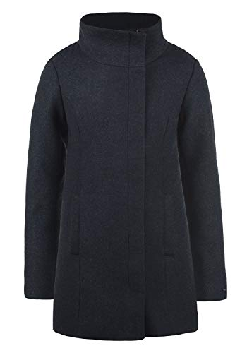 DESIRES Wolke Damen Winter Jacke Mantel Wollmantel Winterjacke mit Stehkragen, Größe:M, Farbe:Insignia Blue Melange (8991)