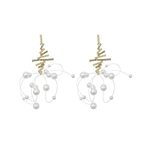 Pendientes para mujer largos Antialérgicos Pendientes cuadrados irregulares de perlas de moda temperamento El mejor regalo de cumpleaños o vacaciones