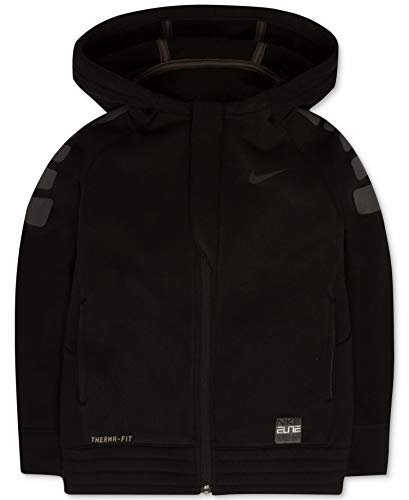 Nike Little Boys Elite Stripe Full-Zip Hoodie Basketball Jacket (3T, Black(76A315-023)/Black)