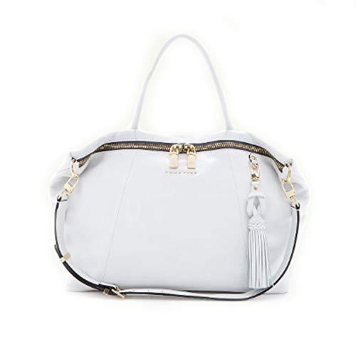'Saratoga' Large White Satchel Handbag by Trina Turk