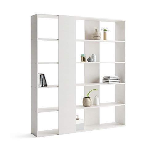 Mobili Fiver, Libreria Rachele, Frassino Bianco, 178 x 36 x...