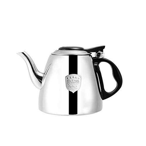 YMSH 304 Stainless Steel Kettle Induction Cooker Kettle Teapot Thicken Household Kettle Kettle Kettle,Silver (Color : Silver, Size : 1.2L)