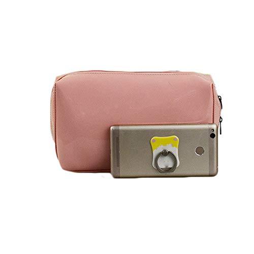 Sac de Voyage cosmétique Mesdames Voyage Double Zipper Miroir Lumineux Sac en Plastique cosmétique Grande capacité imperméable d'embrayage Sac cosmétique LINABIND (Color : Pink, Size : Free Size)
