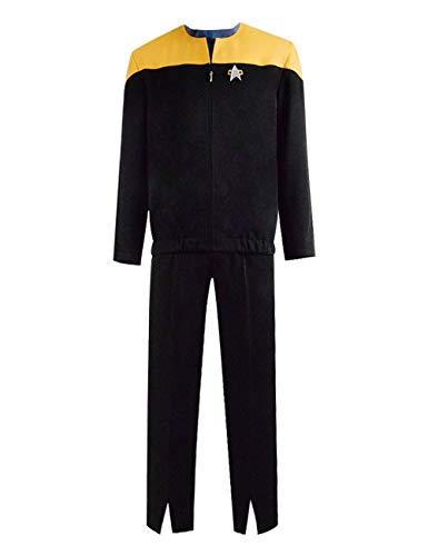 Zhangjianwangluokeji Erwachsene Star Travel Cosplay Kostüme Full Set Uniform Outfits für Männer (M, Farbe1)