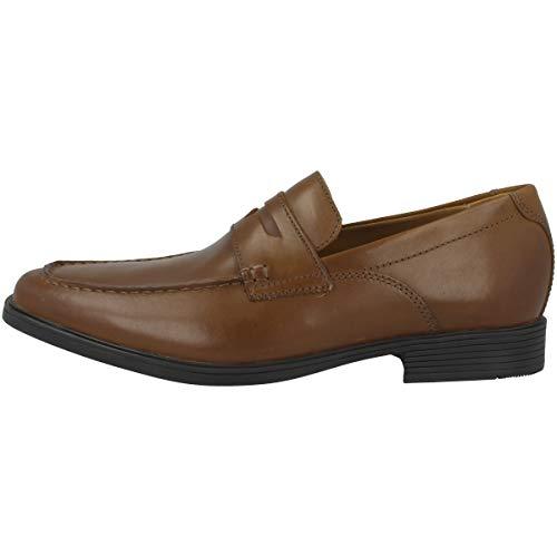 Clarks Tilden Way, Mocassini Uomo, Marrone (Tan Leather-), 41 EU