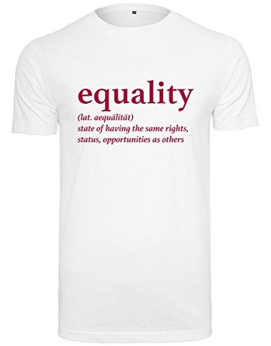 Mister Tee Herren Equality Definition T-Shirt, White, L