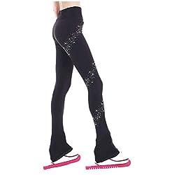 Black #2 Long Pants Rhinestones Dance Yoga Pants